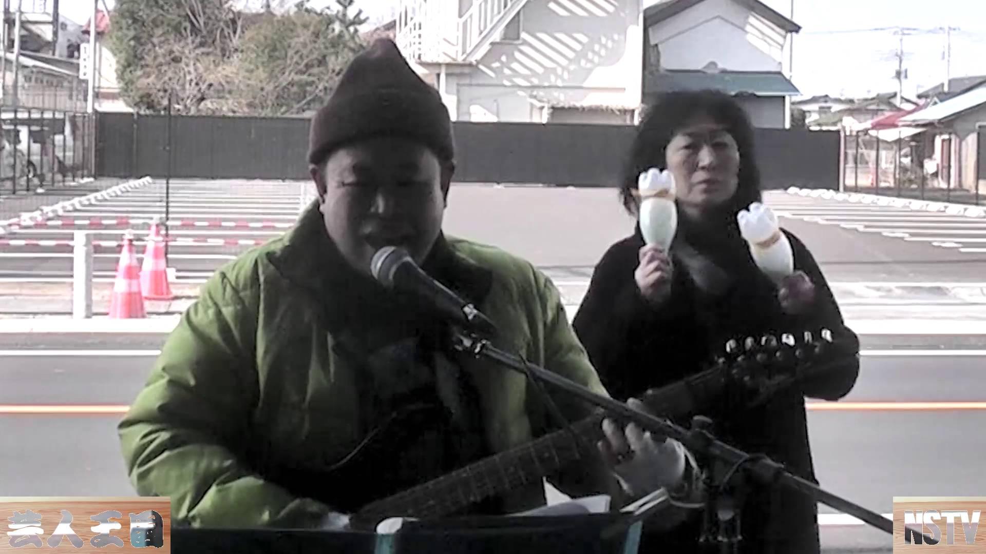 マットー井上~大田原朝市で歌いまくる