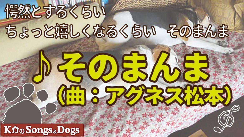 ♪そのまんま(曲:アグネス松本): K介のSongs&Dogs週末はミュージシャン